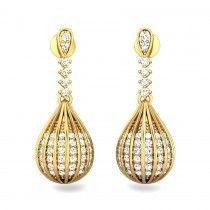 Bhumika Diamond Jhumki  Watch out more diamond jewellery at http://www.candere.com/jewellery/womens-diamond-jhumkas.html