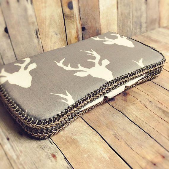 Grey deer baby wipes case deer antler baby wipe case by Ajobebe