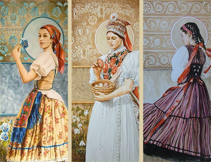 Egyedülálló festménysorozat örökíti meg a Kárpát-medencei nők viseletét | Alfahír