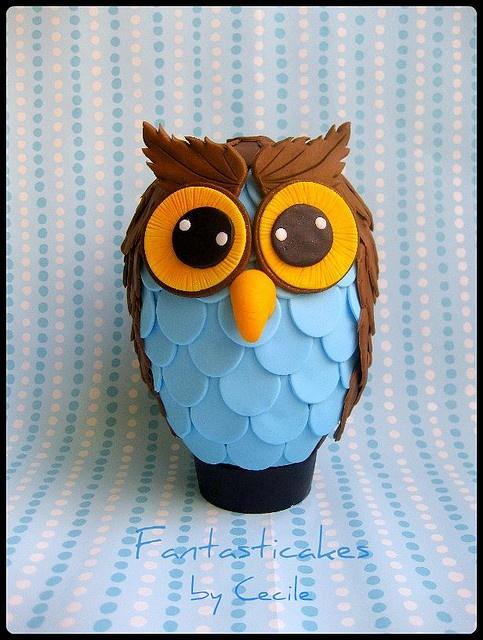 Uovo di Pasqua Gufo / Owl Easter Egg