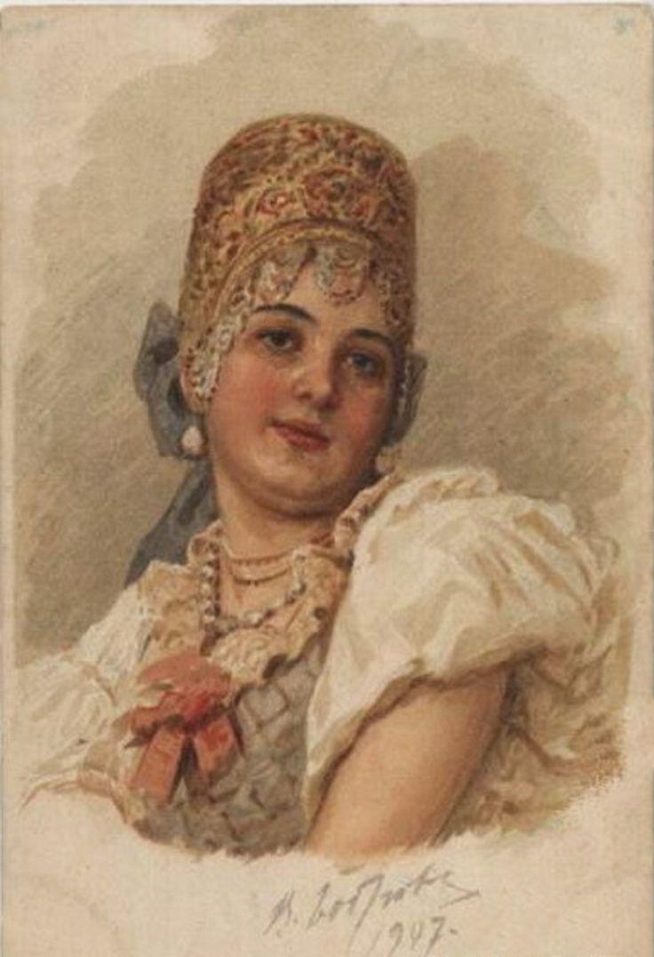 Бобров Виктор Алексеевич (1842-1918)акварель