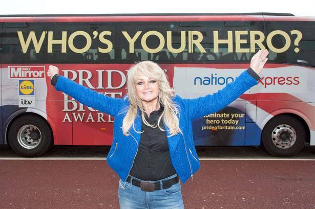 © Rowan Griffiths/Daily Mirror  Source : http://www.mirror.co.uk/ #bonnietyler #gaynorsullivan #gaynorhopkins #thequeenbonnietyler #therockingqueen #rockingqueen #music #rock #2013 #theprideofbritain