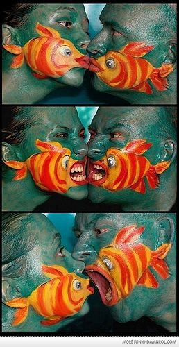 Fish Face PaintFaceart, Face Paintings, Halloween Costumes, Body Painting, So Funny, Face Art, Couples Costumes, Costumes Ideas, Halloween Ideas