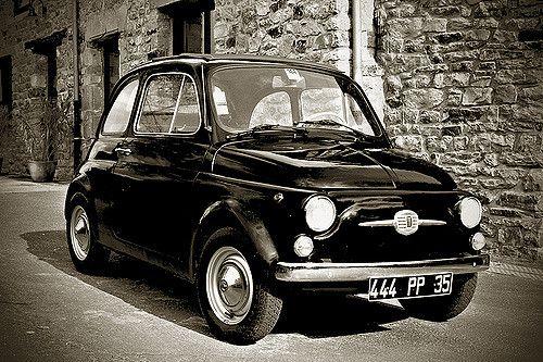 fiat 500 Black&White 1968   by slefevre01