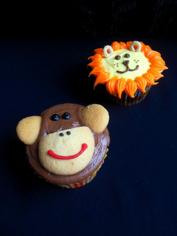 Culinary Couture: Jungle Animal Cupcakes