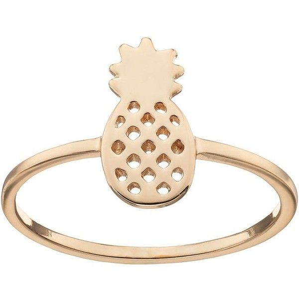 LC Lauren Conrad Pineapple Ring ($7.20) ❤ liked on Polyvore featuring jewelry, rings, gold, gold tone rings, pineapple jewelry, lc lauren conrad, nickel free jewelry and lc lauren conrad jewelry