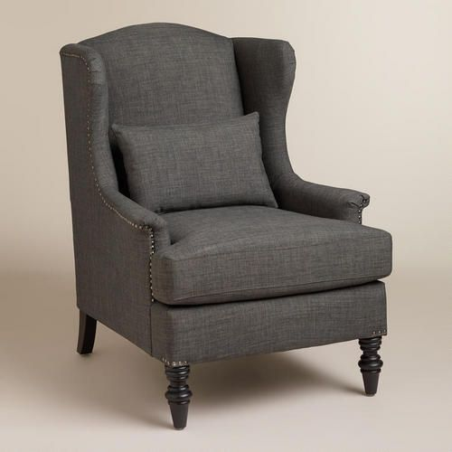 One of my favorite discoveries at WorldMarket.com: Charcoal Oscar Chair: