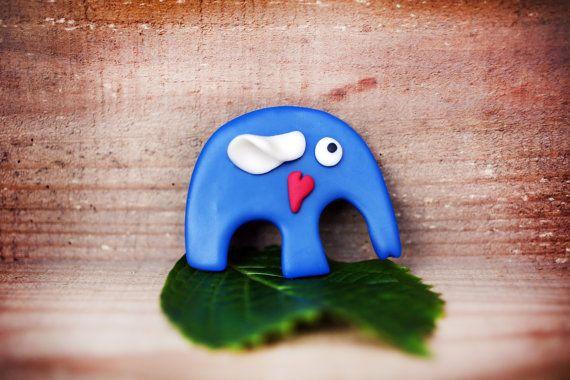 Magnet Elephant Polymer clay magnet Elephant by handmadeBYmamas
