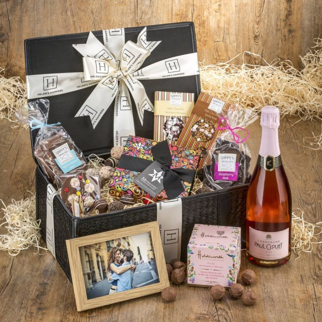 Helen's Hampers Luxury Personalised Chocolates And Champagne Hamper | Hilary Rhodes on WeShop
