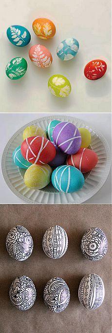Как красить яйца на Пасху..
