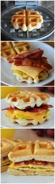 all-food-drink: Waffle Breakfast Sandwiches