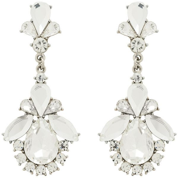 Forever New Tallara Teardrop & Stone Earring (17 AUD) ❤ liked on Polyvore featuring jewelry, earrings, accessories, acc, brinco, crystal, tear drop jewelry, stone jewellery, teardrop earrings and diamante earrings