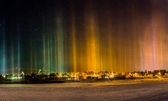 FANTASTISK LYS: Et naturfenomen av de skjeldne skapte lyset som nesten tok pusten av fotograf Kjell Sæther i Karasjok. Foto: Kjell H. Sæther Foto