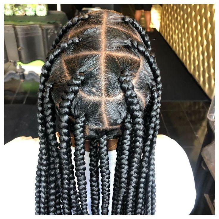 Cute Box Braids Hairstyles, Braids Hairstyles Pictures, African Braids Hairstyles, Baddie Hairstyles, My Hairstyle, Hair Pictures, Black Women Hairstyles, Weave Hairstyles, Protective Hairstyles