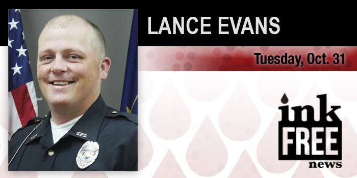 Lance Evan  Goshen Police Officer From Syracuse Found Guilty  ELKHART COUNTY — Lance Evans, 37, North Lake Street, Syracuse, was recently found guilty of criminal trespassing and contributing to the delinquency of a minor, following a two-day jury trial in Elkhart County Superior Court VI. The jury trial was held Oct. 30-31 with...