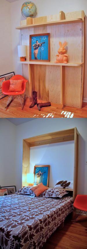 Best 25 cheap murphy bed ideas on pinterest diy murphy for Cheap ways to make a bed frame