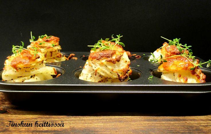 Hauskat tornipotut muffinivuoissa retikasta: Tinskun keittiössä