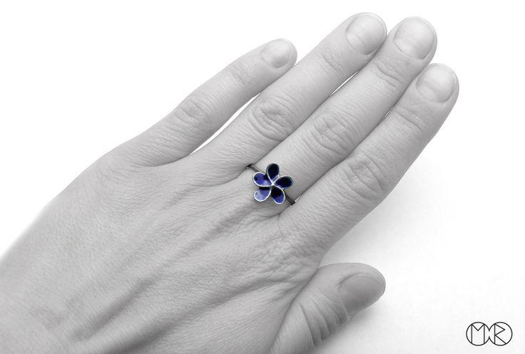 Silberschmuck - Silber Ring PLUMERIA 1 von MartaRudnicka auf DaWanda.com