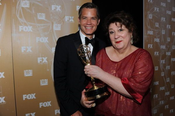 Timothy Olyphant and Margo Martindale at Emmy Awards 2011 FOX party