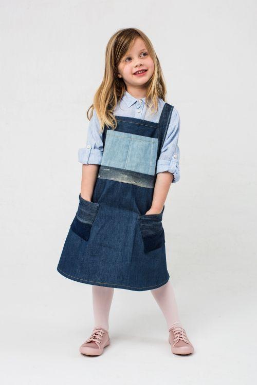 Jeans-Latzkleid - Initiative Handarbeit