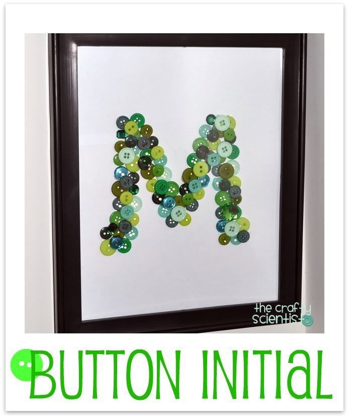 Framed Button Monogram
