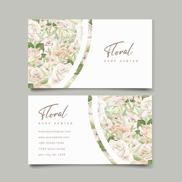 Download Beautiful Roses Business Card Template For Free Vintage Business Cards Business Card Template Floral Business Cards