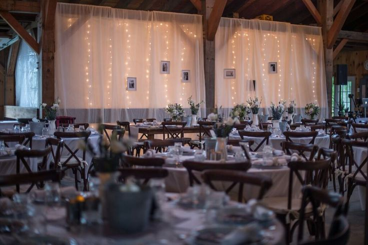 Rustic and Rainy Wedding on Martha's Vineyard- barn reception decor and design idea