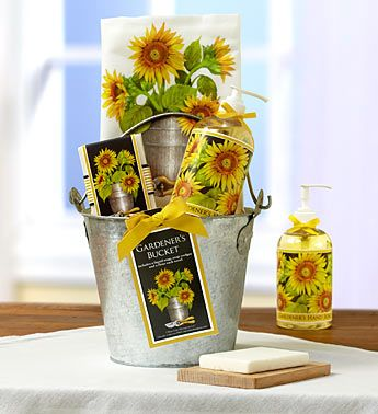 Garden Basket Ideas what a lovely alternative idea for easter or spring birthdays i have a few small Perfect For A Sunflower Admirer Or An Avid Gardener This Sunflower Kitchen Spa Gift Basket