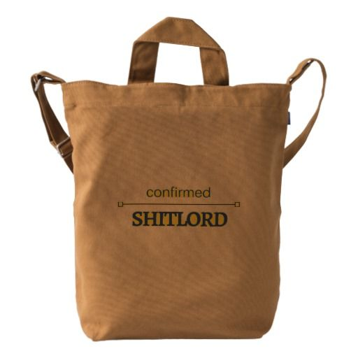 confirmed shitlord duck bag - barbell