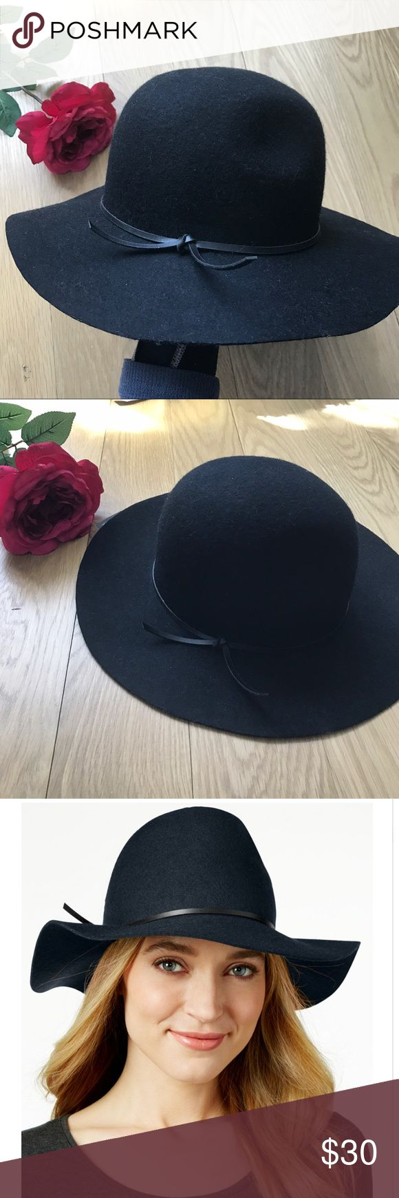 🆕Nine west Black floppy felt hat Pinched crown. Nine West's on-trend floppy hat brings an effortlessly cool vibe to casual outfits. One size fits all Wool Spot clean only. Model wears slightly different color in same exact style. Nine West Accessories Hats