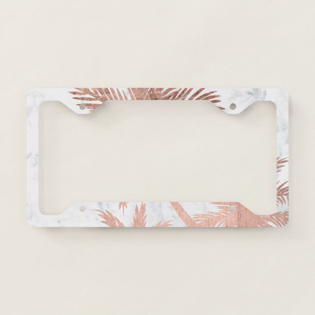 Tropical Chrome Metal PALM TREE License Plate Frame Decoration Decor