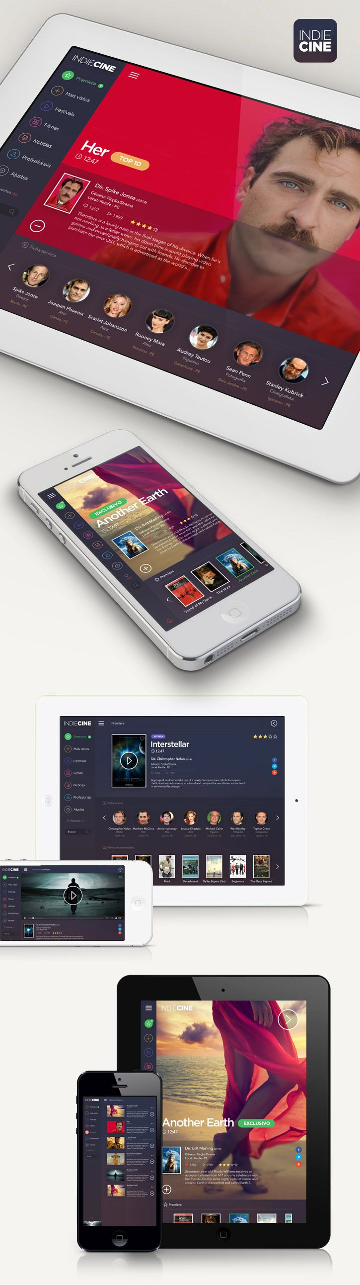 UI inspiration: Great App & Web Designs | From up North #design #mobile #ui #ux #flat #apps
