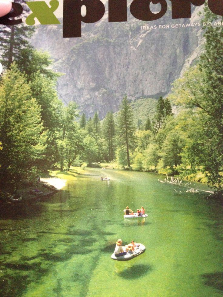 Merced river at Yosemite national park in California.