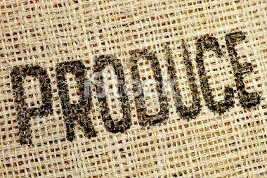 Texte, En matière textile, Typographie, Laine, Tissage Photo libre de droits
