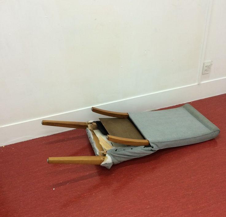 Marina Alexandrovna. sculpture, installation, flattened chair
