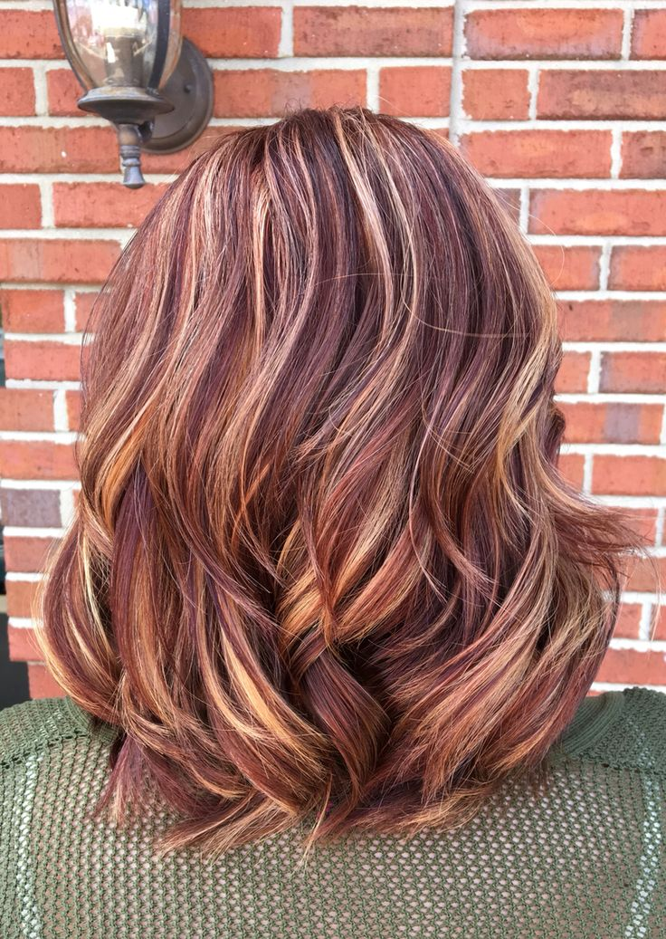 Copper Violet Blonde Balayage Pinteres