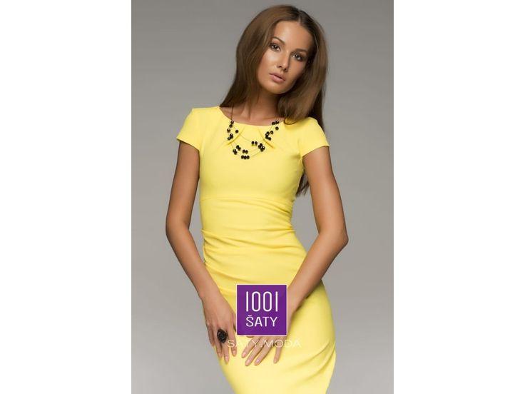 společenské koktejlové šaty Molly Yellow
