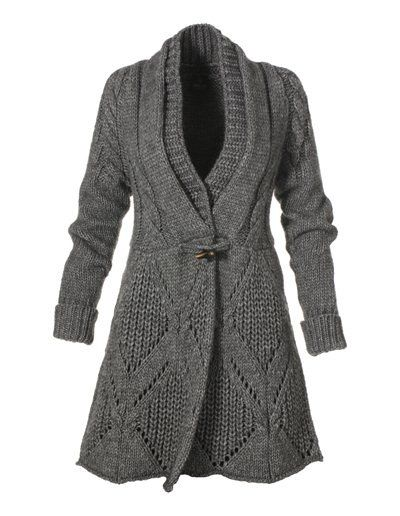 Knitted jacket (coat) - maomao - I move your feet