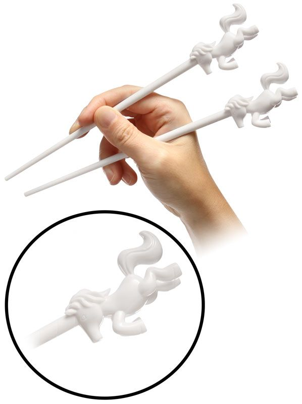 Unicorn Chopsticks! Love!!! - Mythical Eating Utensils - Stand up on their hind hooves, too! - $9.99