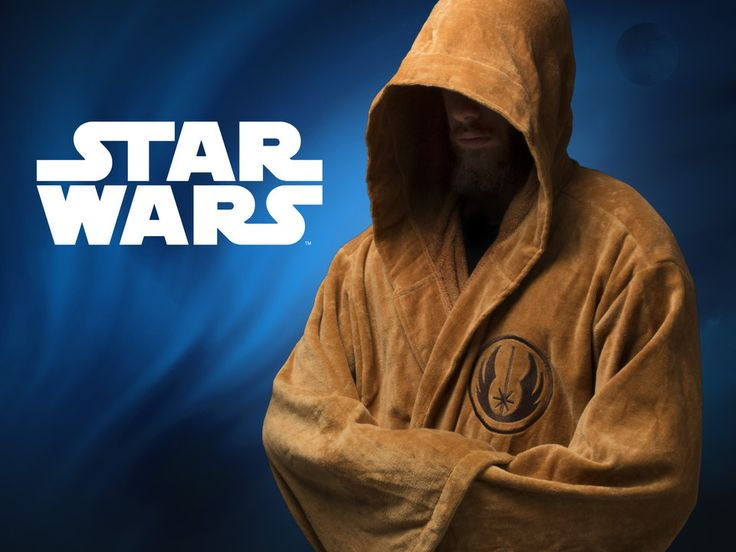Jedi Robe - Use the force at the beach, at your local swimming hall, at your home or that of someone else you like. A Jedi never goes out of style. Star Wars at www.CoolStuff.com