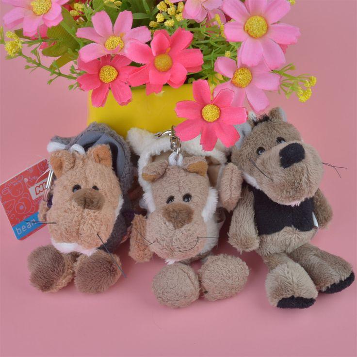 Aliexpress.com: Comprar 3 unids lobo juguete colgante de la felpa, los niños de la muñeca llavero Keyholder regalo envío gratis de De peluche y Felpa Animales fiable proveedores en DORA's LOVE store