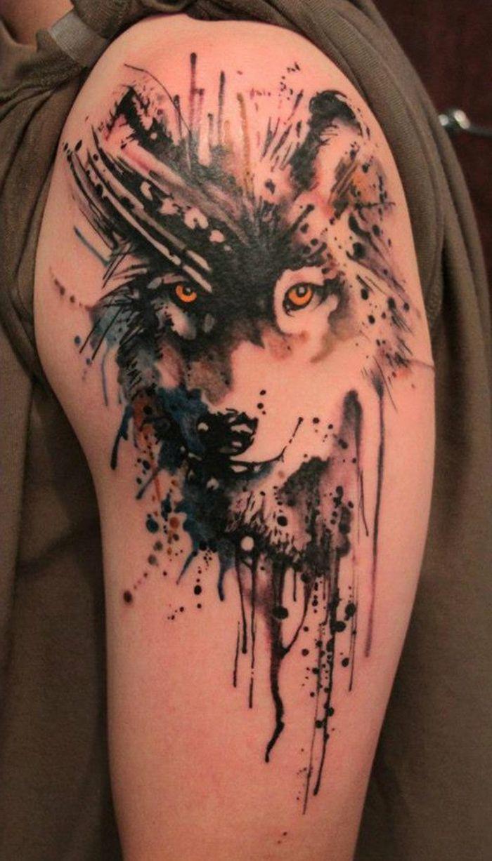13 Tatto lobo en el brazo
