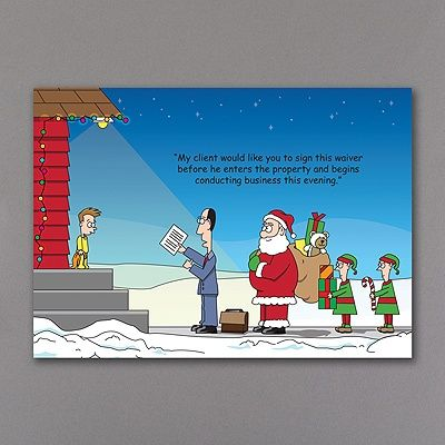 Santa Is Keeping Everything Legal. Lawyers Will Love Sending This Funny  Christmas Card To Clients