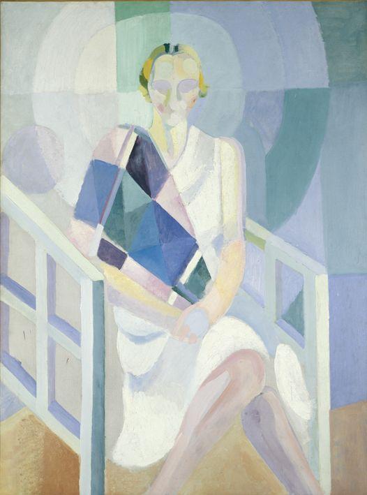 Robert Delaunay, Ritratto di Madame Heim(1926-1927) olio su tela; 130 x 97cm