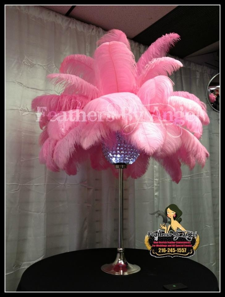 Crystal ball feather centerpiece feathersbyangel