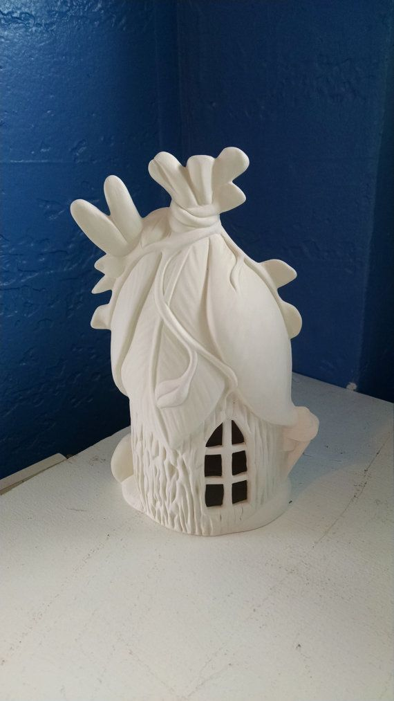 Small Leaf Elf or Fairy House and home unpainted by KiblerCottage