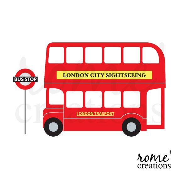 London Double Decker Bus Clipart Clip Art by RomeCreations ...