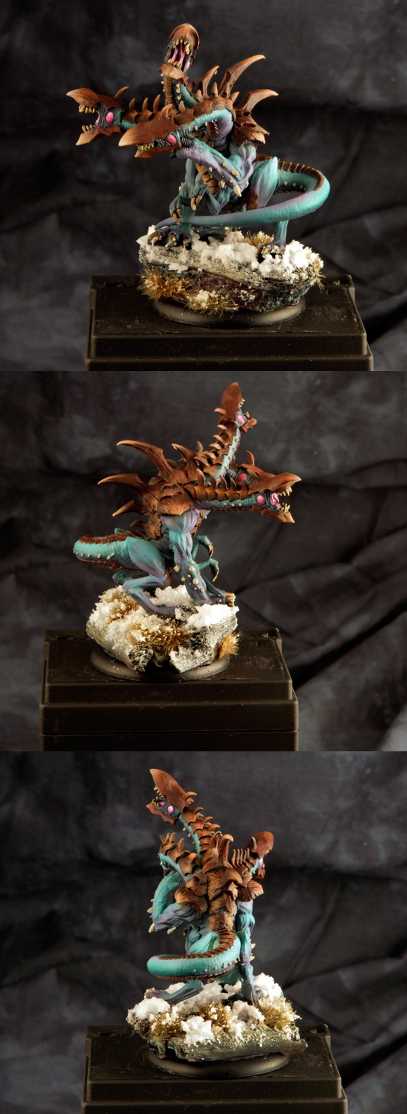 copper?  Cool skin with warm bone tones  CoolMiniOrNot - Legion of Everblight Typhon Heavy Warbeast by jabbayoda