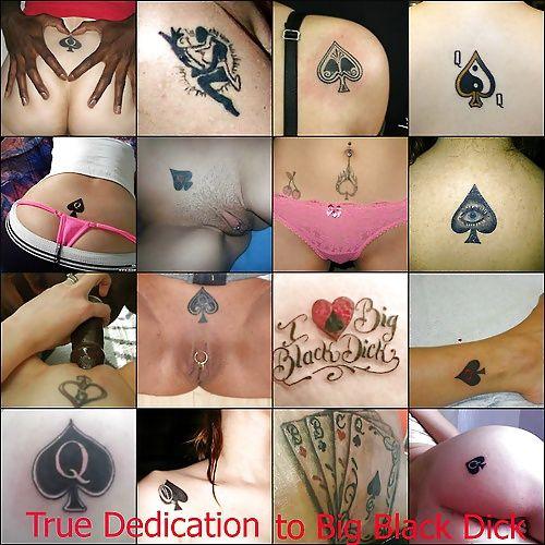 Cuckold white slut wife tattoo
