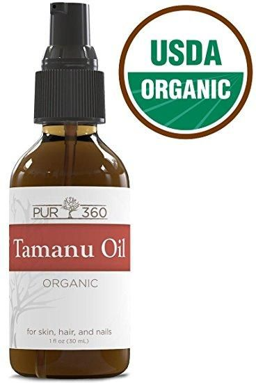 Pur360 Tamanu Oil - Pure Cold Pressed - Best Treatment for Psoriasis, Eczema, Acne Scar, Nail Fungus, Rosacea - Relief for Dry, Scaly Skin, Blisters and More